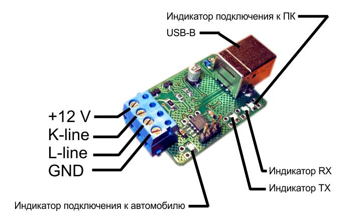 K-L-line адаптера можно