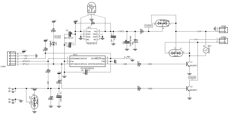 схема прибора для электросекса