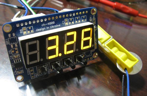 Измерение напряжения литиевой батарейки