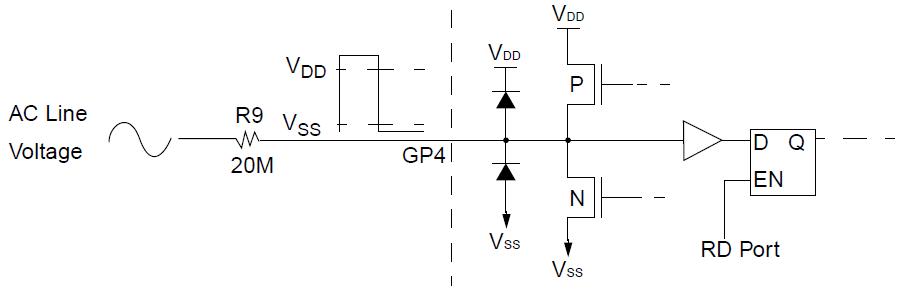 В микроконтроллере PIC16F1823