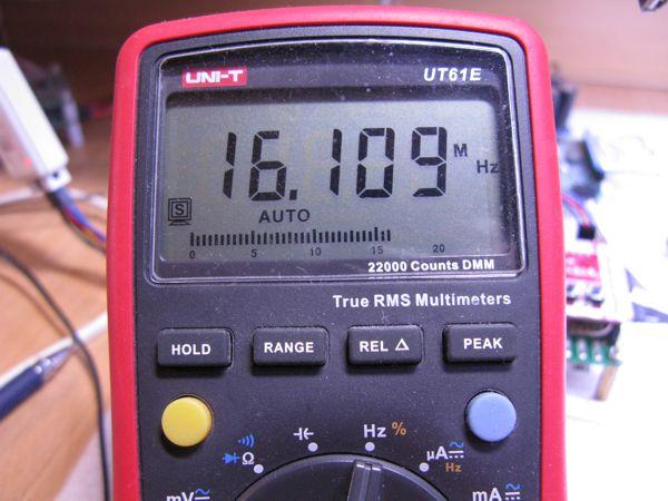 Измерение частоты 16 МГц
